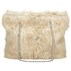Prada Brown Fur Tote Bag
