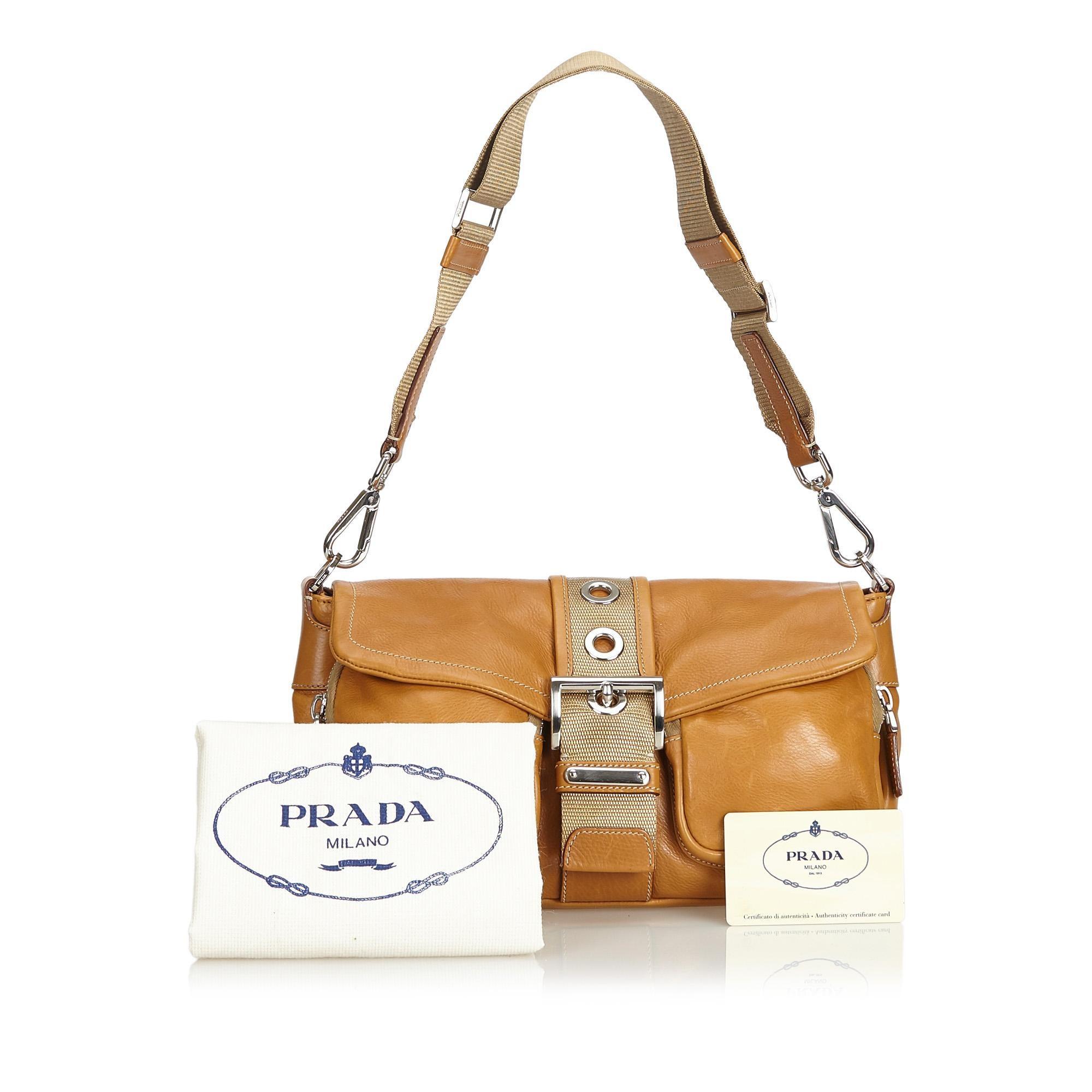 65361c9114c1 Prada Brown Leather Bagutte Bag at 1stdibs