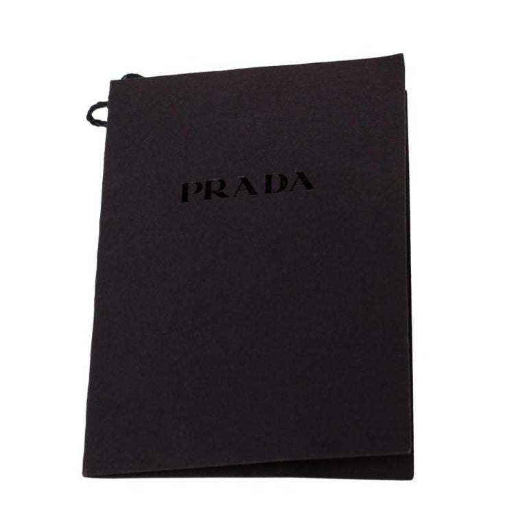 Prada Brown Leather Buckle Detail Knee Length Boots Size 41 For Sale 2
