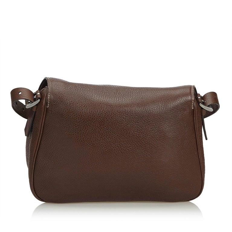Prada Brown Leather Crossbody Bag For Sale at 1stdibs 6d3ba08f85da7
