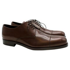 Prada Brown Leather Lace-up Shoes - Us size 9.5