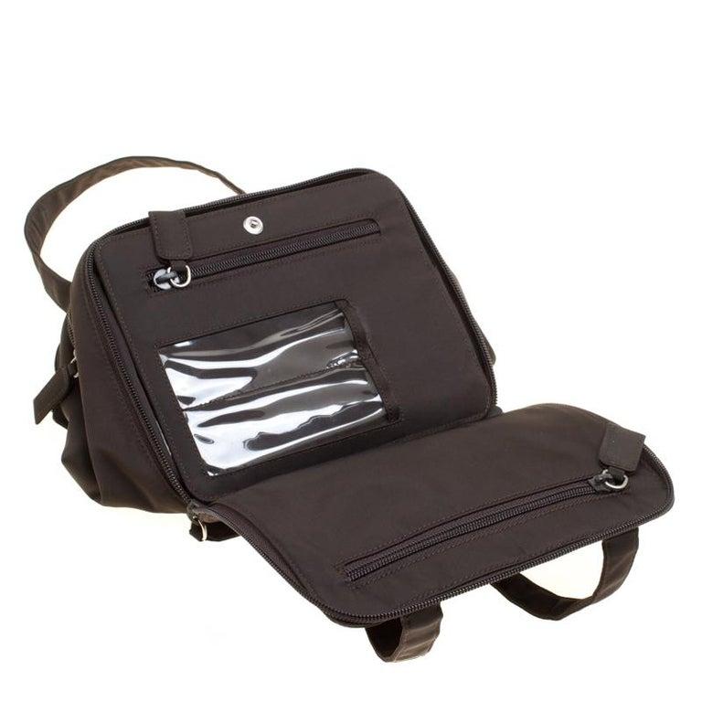 e66895d462e0fa Prada Brown Nylon Camera Satchel For Sale at 1stdibs