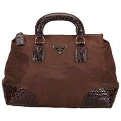 Prada Brown Nylon Handbag