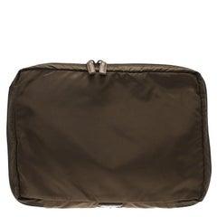 Prada Brown Nylon Laptop Case