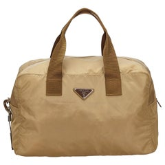 Prada Brown Nylon Travel Bag