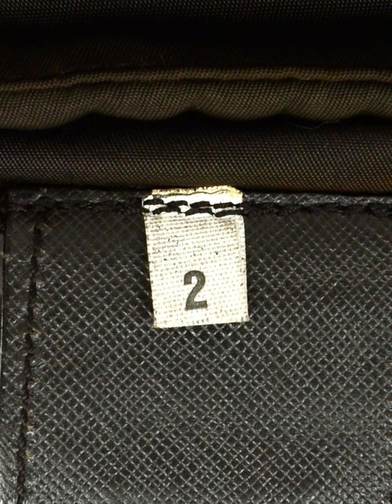 Prada Brown Nylon Zip Front Waist Bag/Fanny Pack For Sale 3