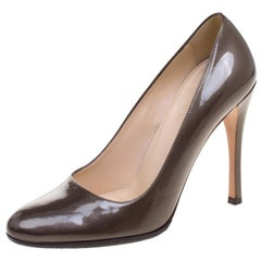 Prada Brown Patent Leather Pumps Size 36.5