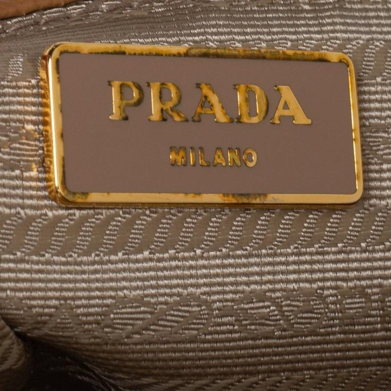 Prada Brown Saffiano Lux Leather Large Double Zip Tote For Sale 6