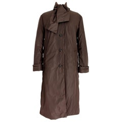 Prada Brown Shawl Down Jacket Long Coat