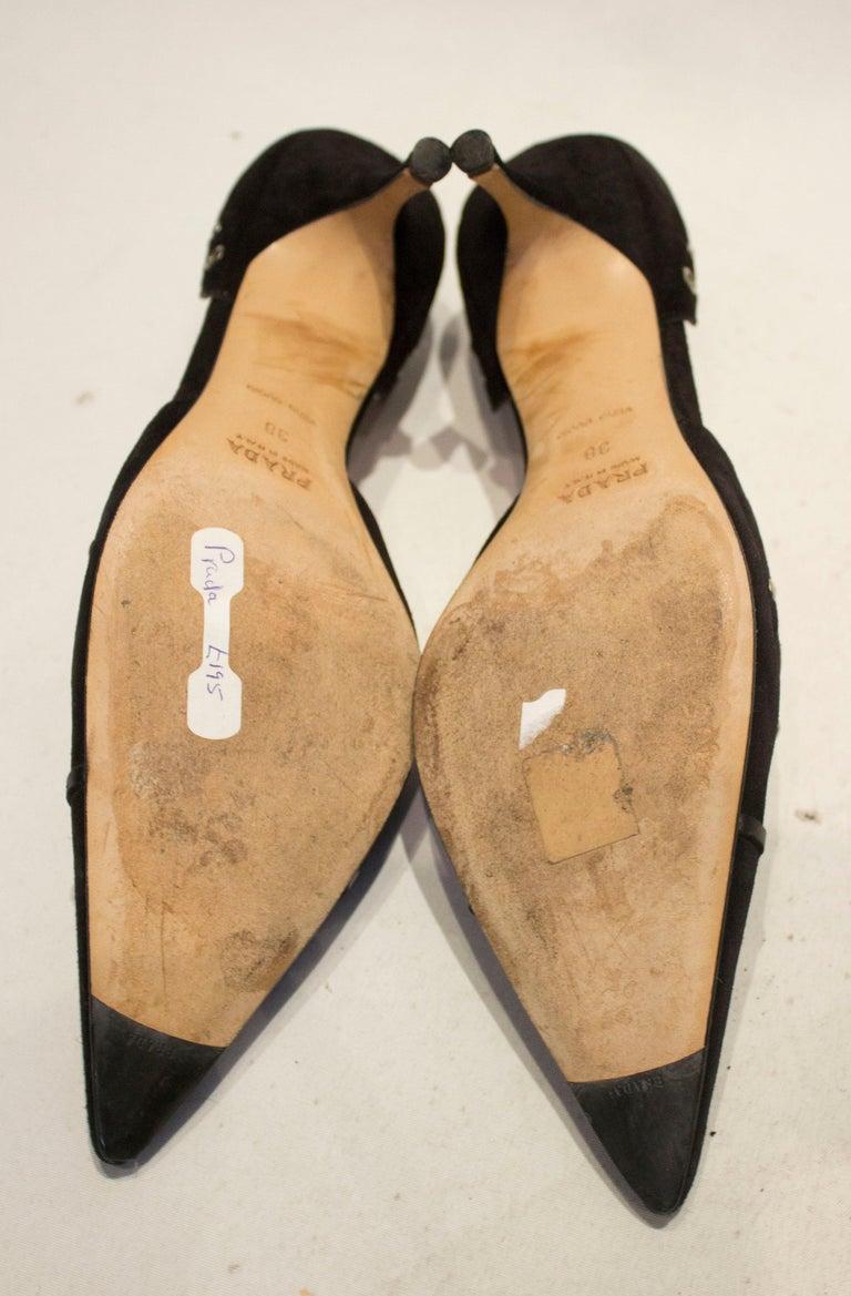 Prada Brown Suede Shoes For Sale 2