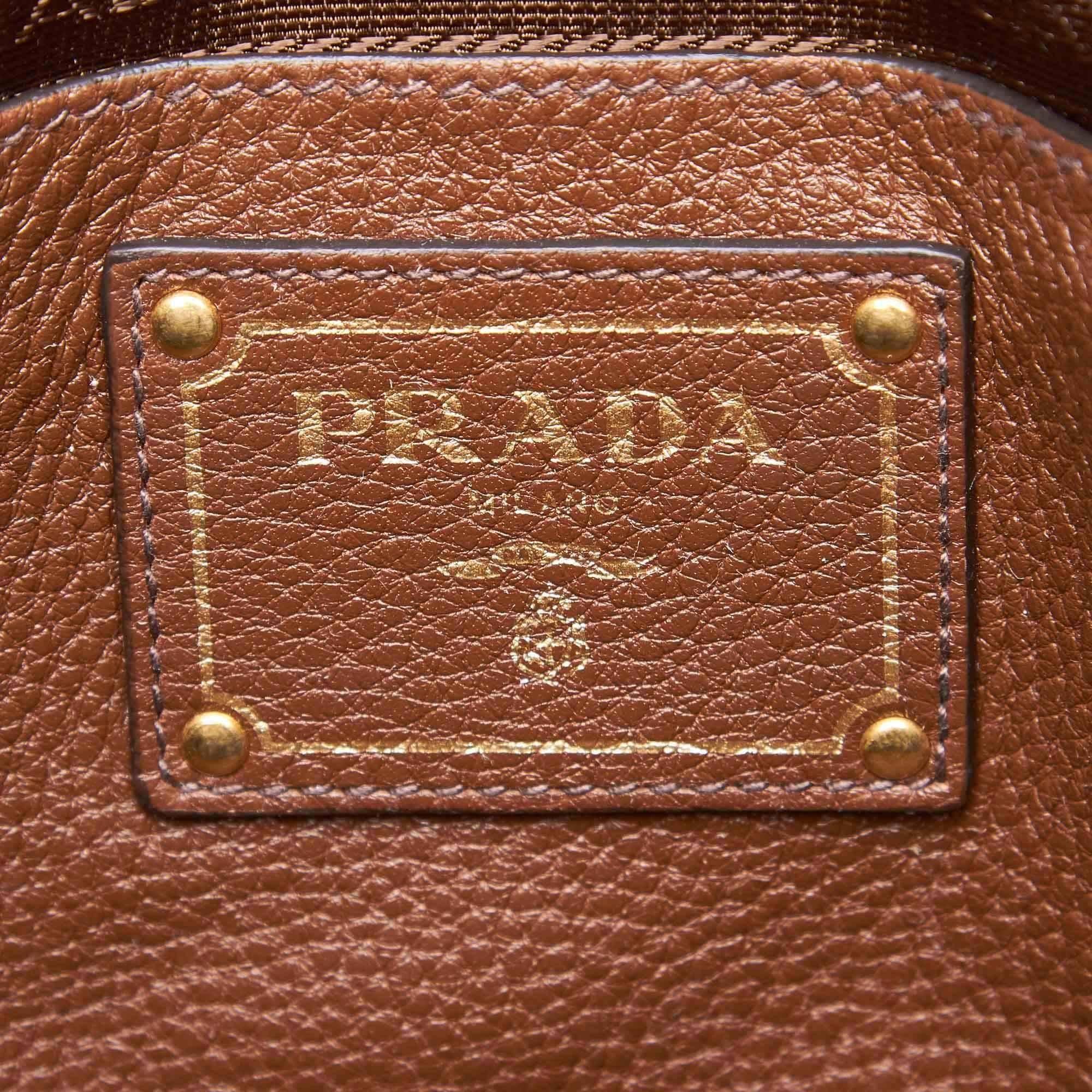 93e295e23f6b ... coupon code prada brown vitello daino leather shopper tote for sale 2  18267 40fcd