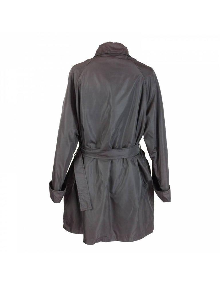 Black Prada Brown Waterproof Pocono Trench Coat For Sale
