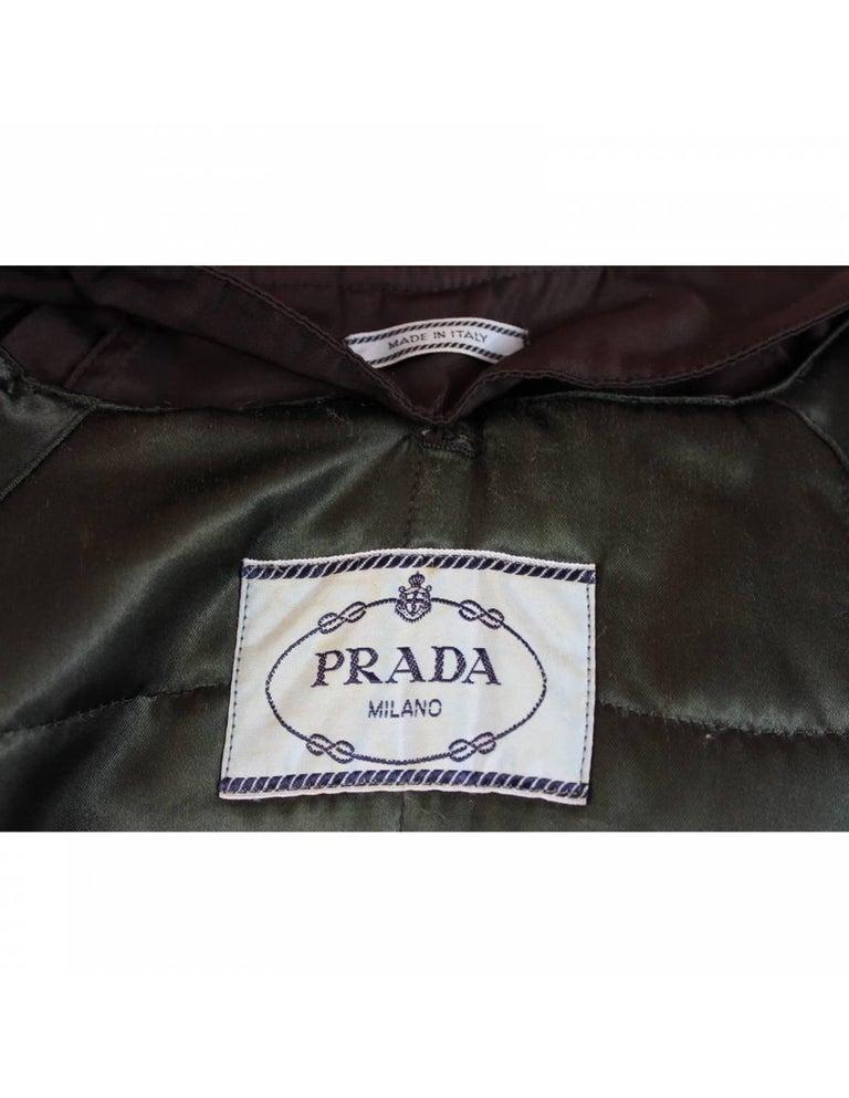 Women's Prada Brown Waterproof Pocono Trench Coat For Sale
