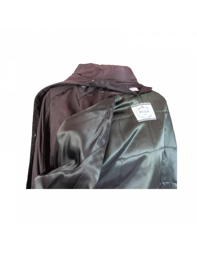 Prada Brown Waterproof Pocono Trench Coat For Sale 1