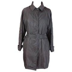 Prada Brown Waterproof Pocono Trench Coat