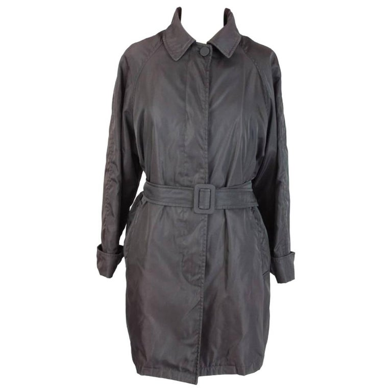 Prada Brown Waterproof Pocono Trench Coat For Sale
