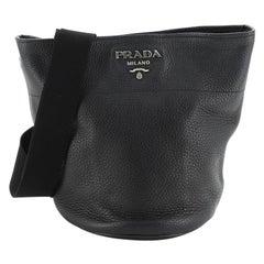 Prada Bucket Messenger Bag Vitello Daino Small