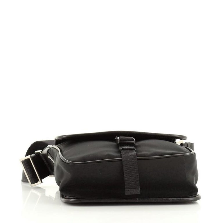 Prada Buckle Messenger Bag Tessuto Small In Good Condition For Sale In New York, NY