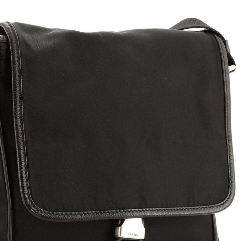 Prada Buckle Messenger Bag Tessuto Small For Sale 1