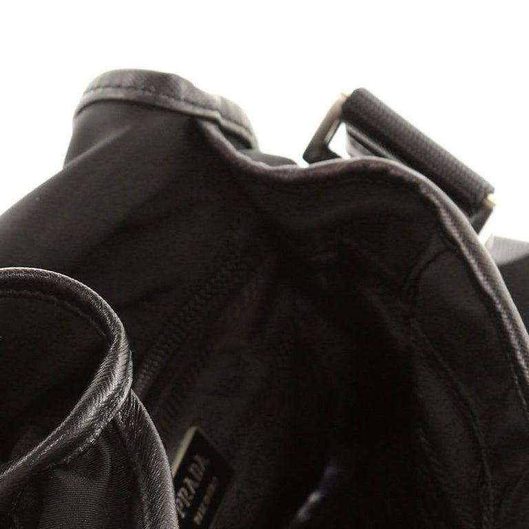 Prada Buckle Messenger Bag Tessuto Small For Sale 2