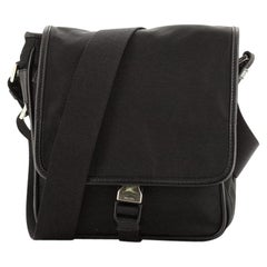 Prada Buckle Messenger Bag Tessuto Small