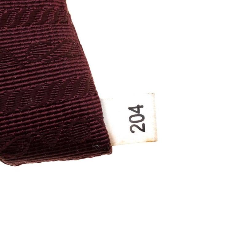 Prada Burgundy Nylon Pocket Zip Tote For Sale 4