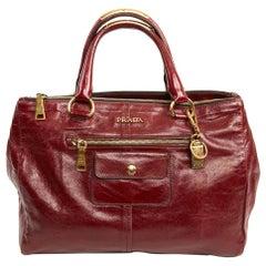 Prada Burgundy Tote Bag