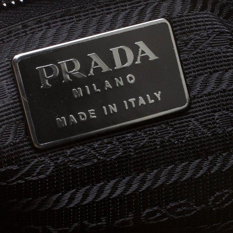 Prada Burgundy Velvet Frame Bag For Sale 6