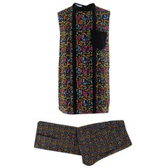 Prada by Holliday & Brown Printed Top & Trousers SIZE Top US 2/ Trousers US 4