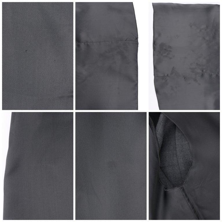 PRADA c.2010 Heathered Gray Peter Pan Collar Sleeveless Sheath Dress For Sale 4
