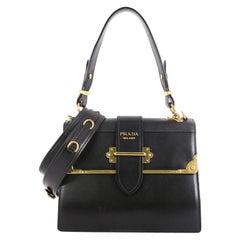 Prada Cahier Convertible Shoulder Bag City Calf and Saffiano Leather Mediem