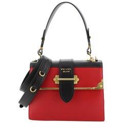 Prada Cahier Convertible Shoulder Bag City Calf and Saffiano Leather Medium