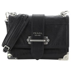 Prada Cahier Convertible Shoulder Bag City Calf Medium