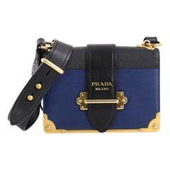 Prada Cahier Crossbody Bag City Calf and Saffiano Leather Small