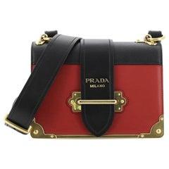 Prada Cahier Crossbody Bag City Calf and Saffiano Small