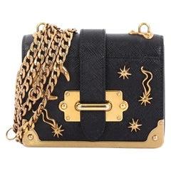 Prada Cahier Crossbody Bag Embellished Leather Micro