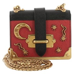 Prada Cahier Crossbody Bag Embellished Leather Micro