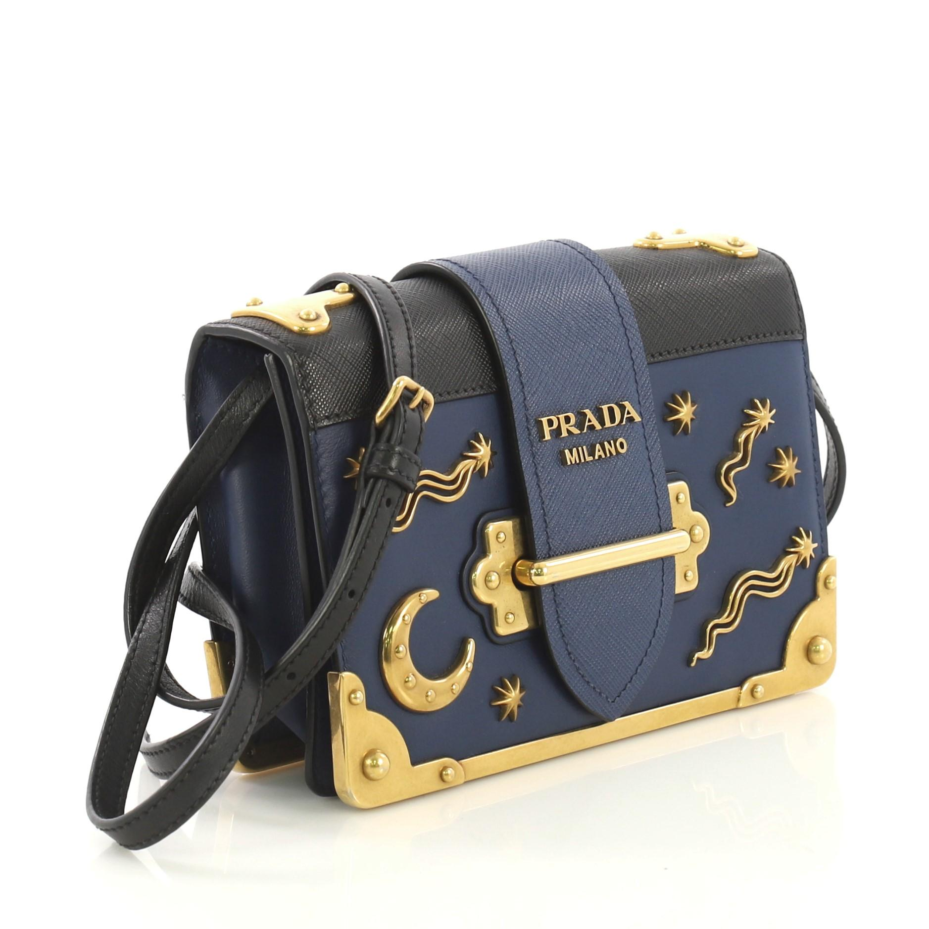9e7664d941b3 Prada Cahier Crossbody Bag Embellished Leather Small For Sale at 1stdibs