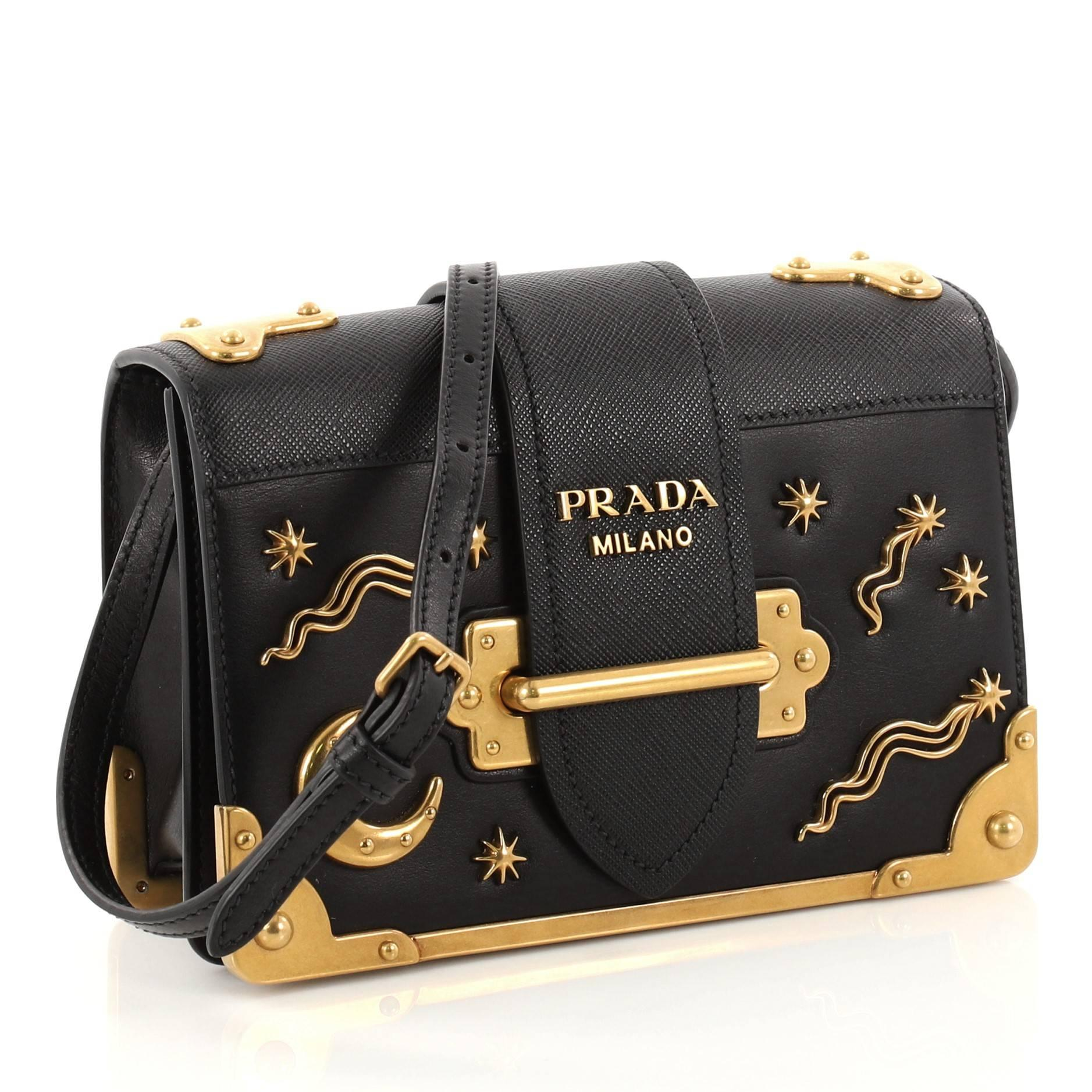 Prada Cahier Crossbody Bag Embellished Leather Small at 1stdibs dfb8ffacc5078