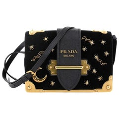 Prada Cahier Crossbody Bag Embellished Velvet Small