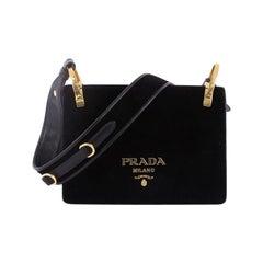 Prada Cahier Shoulder Bag Velvet Small