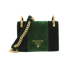 Prada Cahier Shoulder Bag Velvet Small
