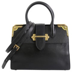 Prada Cahier Tote City Calf and Saffiano Leather Large