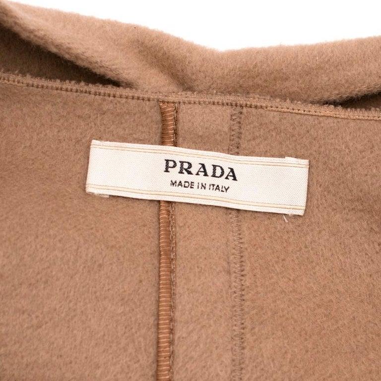Women's Prada Camel Angora Wool Blend Jacket  XXS 38 For Sale