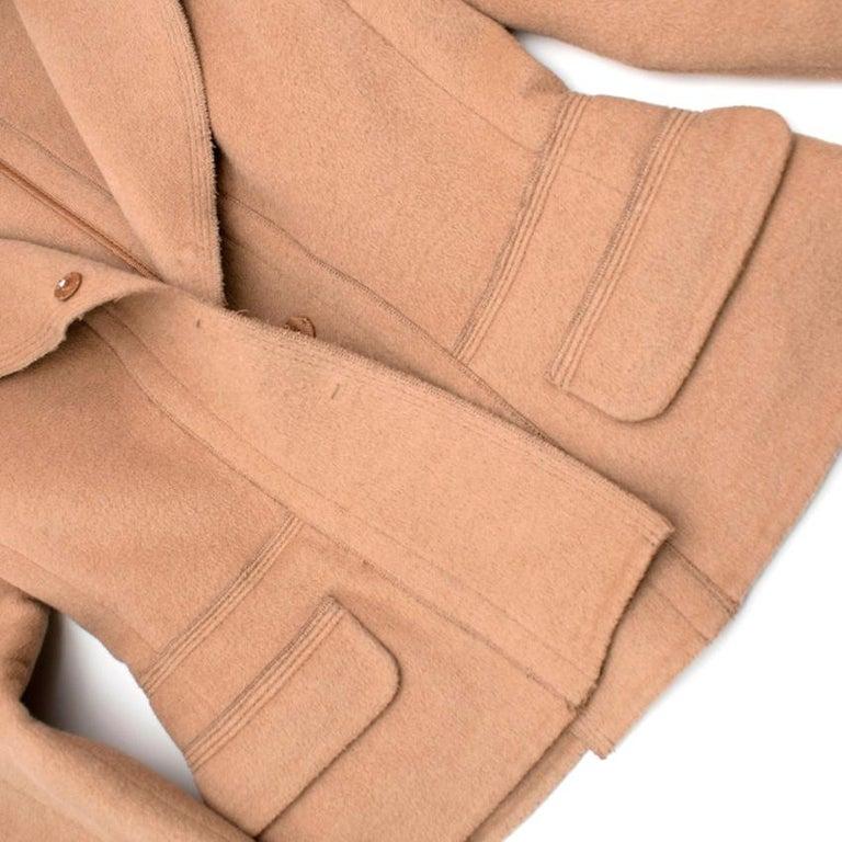 Prada Camel Angora Wool Blend Jacket  XXS 38 For Sale 1