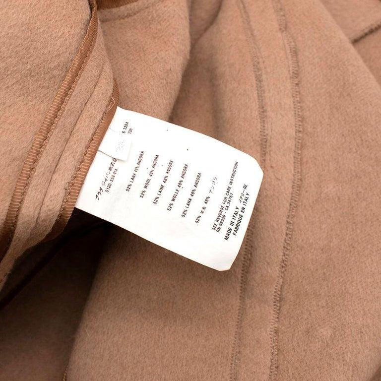 Prada Camel Angora Wool Blend Jacket  XXS 38 For Sale 2