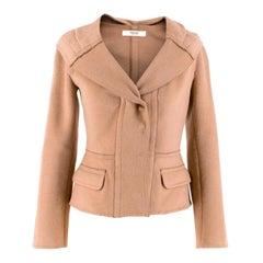 Prada Camel Angora Wool Blend Jacket  XXS 38