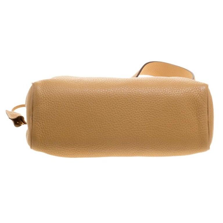 Prada Camel Leather Shoulder Bag For Sale 1