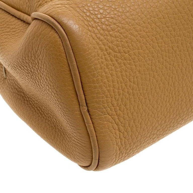 Prada Camel Leather Shoulder Bag For Sale 2