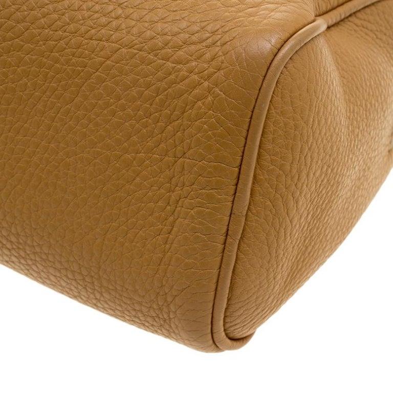 Prada Camel Leather Shoulder Bag For Sale 3